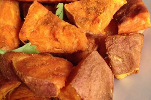 Coconut Curry Roasted Sweet Potatoes
