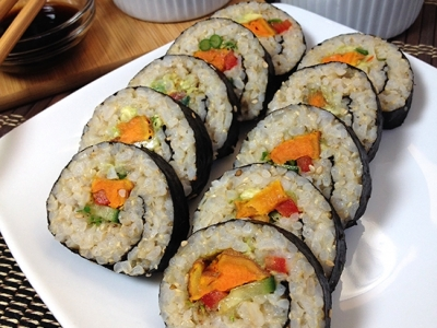 Curry Roasted Sweet Potato Sushi Roll