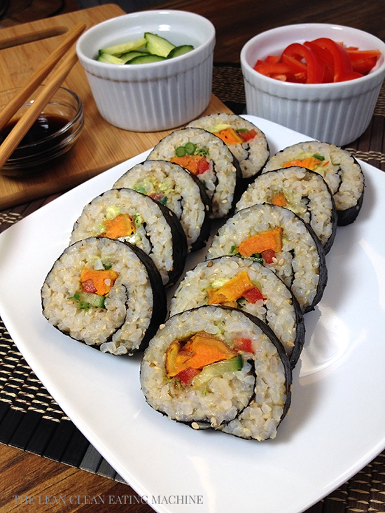 Curry Roasted Sweet Potato Sushi Roll - The Lean Clean Eating Machine