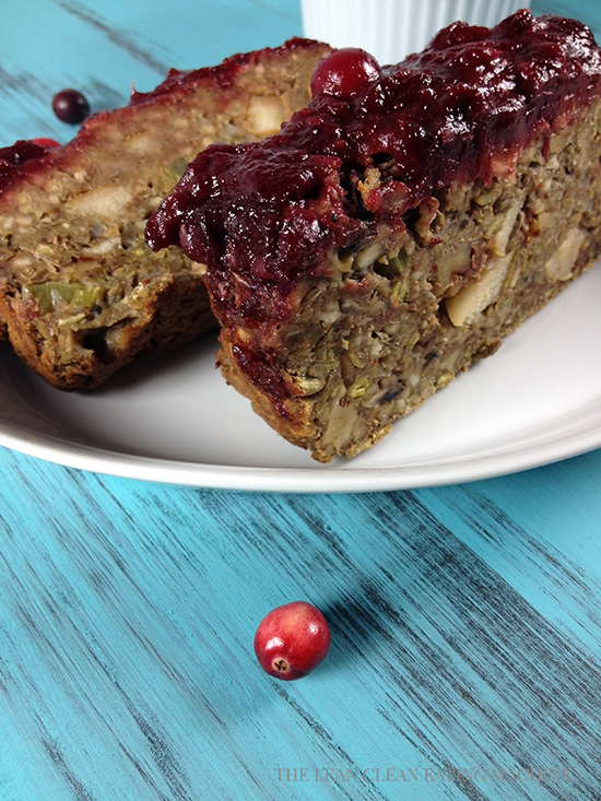 Vegan Meatloaf with Spiced Cranberry Sauce