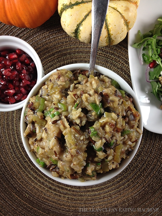 Wild Rice Mushroom Risotto with Toasted Pecans