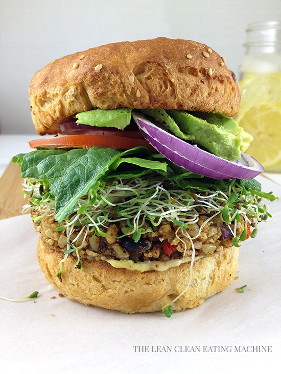 Ultimate Tri-Bean Veggie Burger