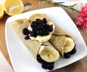 Blueberry Banana Gluten Free Crepes