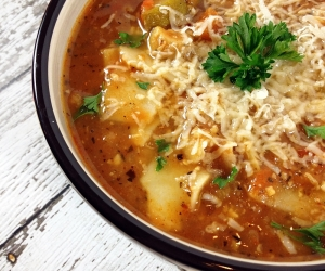 Lightened-Up Lasagna Soup