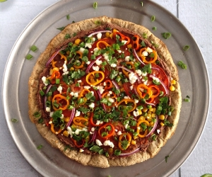 Lightened-Up Mexican Pizza