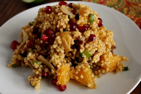 Honey Orange Pomegranate Salad - The Lean Clean Eating Machine