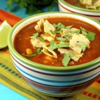 Lightened Up Tortilla Soup