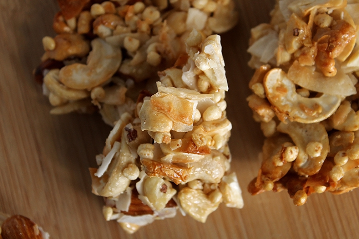 Cashew Coconut Nut Clusters