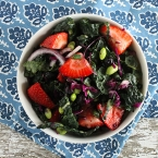 Strawberry Spring Kale Salad