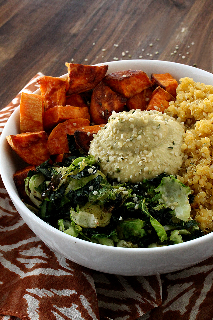 Sweet Potato Vegan Bowl with Chickpea-less HummusThe Lean Clean