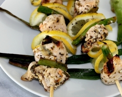 Grilled Lemon and Asparagus Chicken Skewers