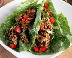Raw Romaine Wrapped Tacos