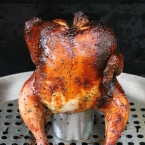 Hard Cider Beer Butt Chicken
