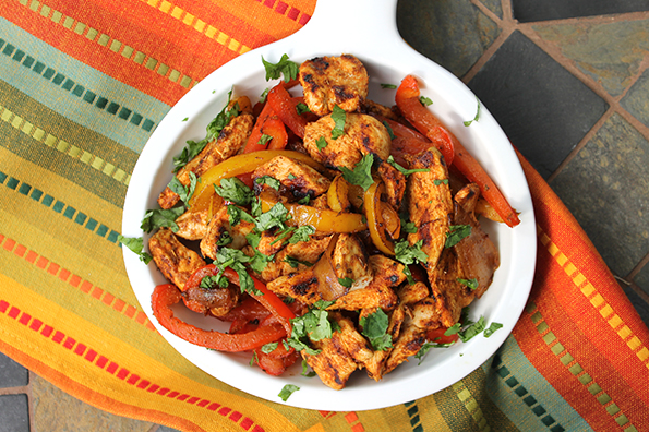 Healthy Chicken Fajitas and Peppers