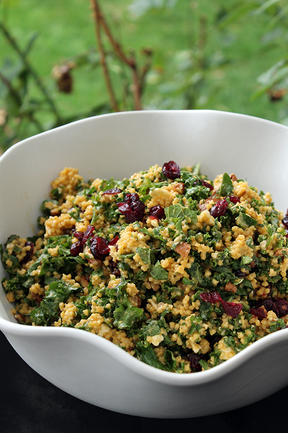 Cranberry Pecan Kale Salad - The Lean Clean Eating Machine