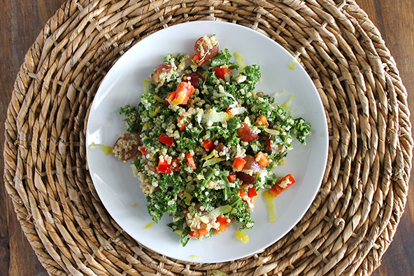 Quinoa and Kale Salad with Lemon Vinaigrette