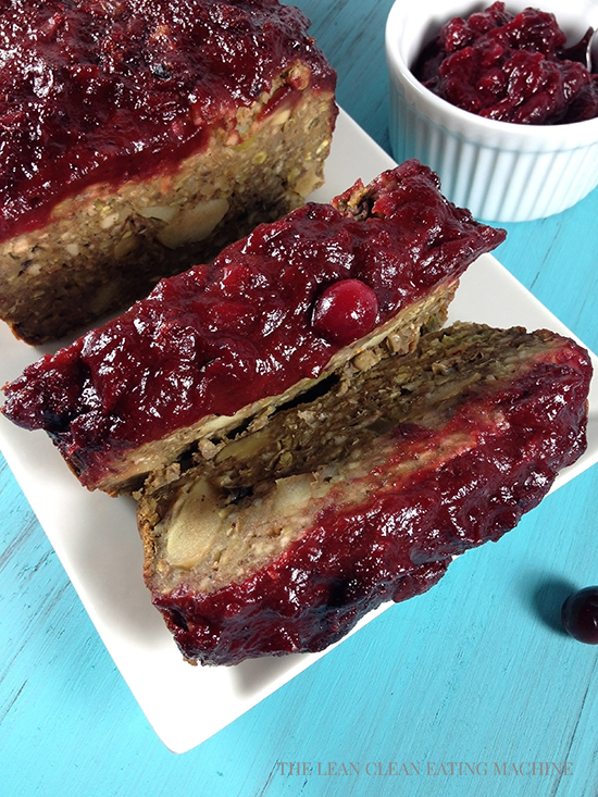 Vegan Meatloaf With Spiced Cranberry Sauce The Lean Clean Eating Machine